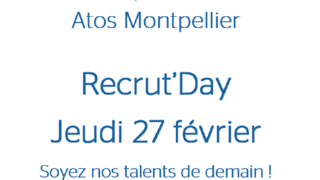 Recrut'Day Atos Montpellier